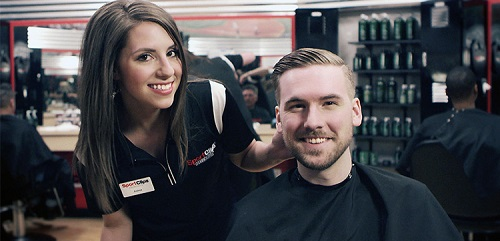 Sport Clips Haircuts of South Hanover​ stylist hair cut